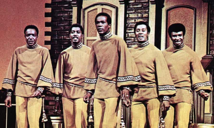 The Temptations: Paul Williams, Otis Williams, Eddie Kendricks, Melvin Franklin and Dennis Edwards (Photo by GAB Archive/Redferns)