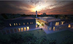 An artist's impression of the mosque approved by Bendigo council.