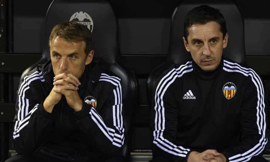 Phil Neville with his brother Gary Neville