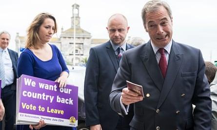 Nigel Farage during EU referendum campaign