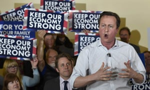 David Cameron speaks during a Conservative party campaign event before the general election