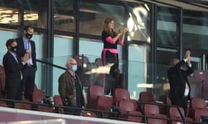 West Ham United vice-chairman Karren Brady congratulates the team on their performance.