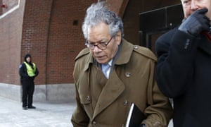 The founder of Insys Therapeutics, John Kapoor, leaves federal court in Boston earlier this year.