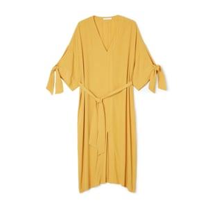 Yellow kaftan dress