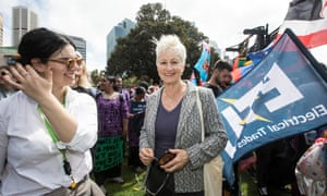 Kerryn Phelps at the climate strike in Sydney's Domain in 2019.