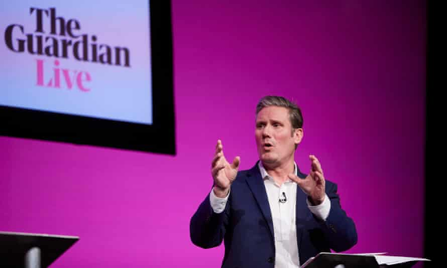Starmer at the Guardian Labour leadership hustings in Manchester