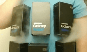 the Galaxy Note 7 costume.