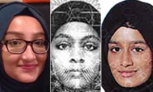Kadiza Sultana, left, was killed in Syria. She left Britain with her friends Amira Abase and Shamima Begum in February 2015.