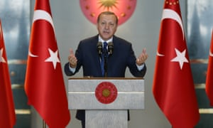 Recep Tayyip Erdoğan at the Presidential Palace