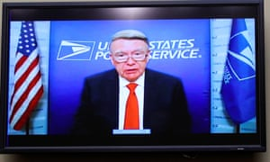The president of the US Postal Service board of governors, Robert Duncan, testifies remotely during a House oversight and reform committee hearing last month.