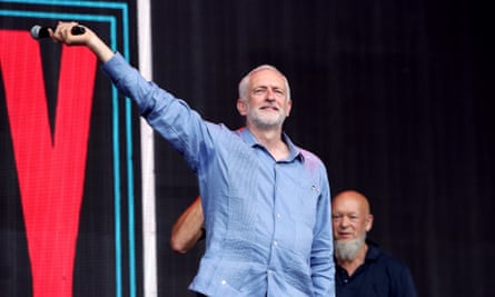 Negative mainstream media coverage of Jeremy Corbyn, pictured at Glastonbury, fuels the opposition of the Canary and Skwawkbox.