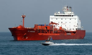 An oil tanker at the port of Bandar Abbas, on Iran's south coast.
