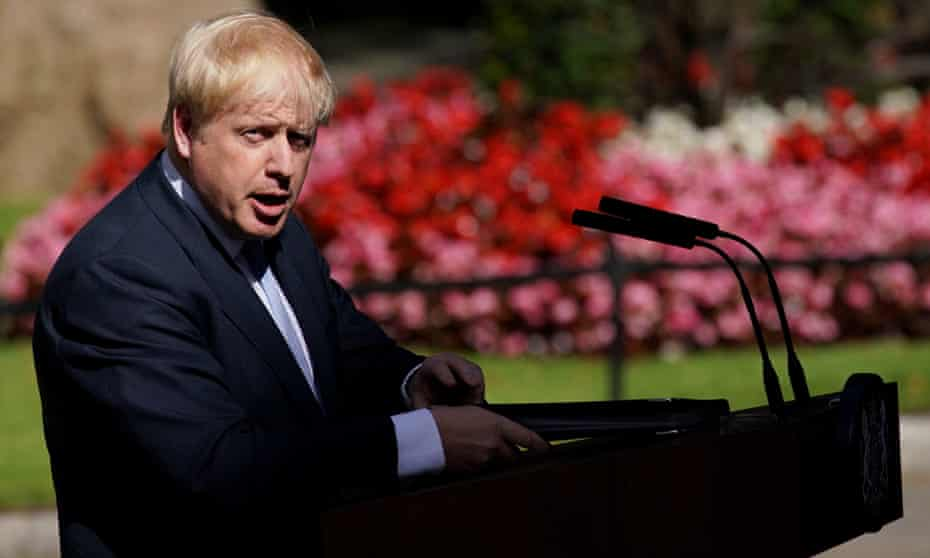 Boris Johnson delivers his first speech as prime minister.