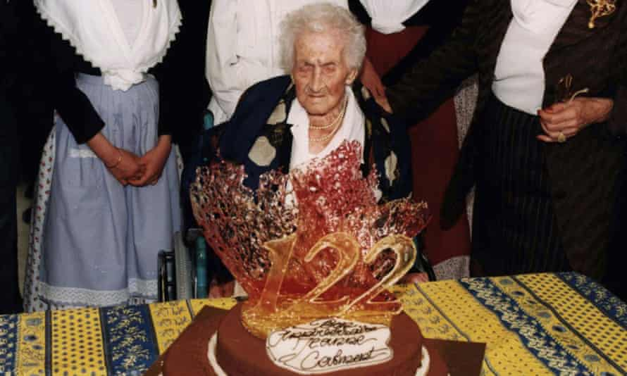 Jeanne Calment's 122nd birthday party in 1997