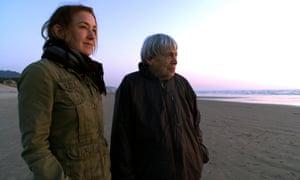 Film-maker Arwen Curry with Ursula K Le Guin.
