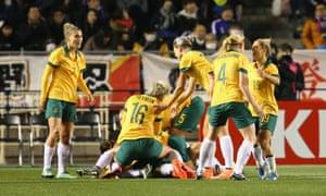 Matildas women's footballers