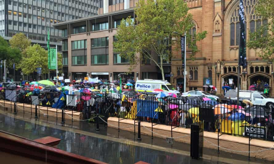 Protesters rally outside NSW parliament in opposition to propose anti-protest laws