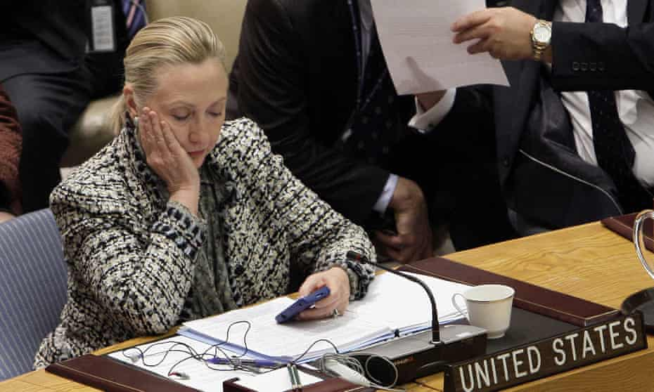 Hillary Clinton in 2012 during her tenure as secretary of state.