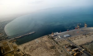 An aerial view of Gwadar port