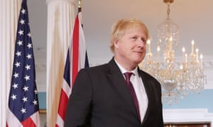 Boris Johnson at the US State Department in Washington DC.