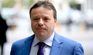 Arron Banks, whose Leave.EU campaign was fined £70,000 for breaking electoral law.