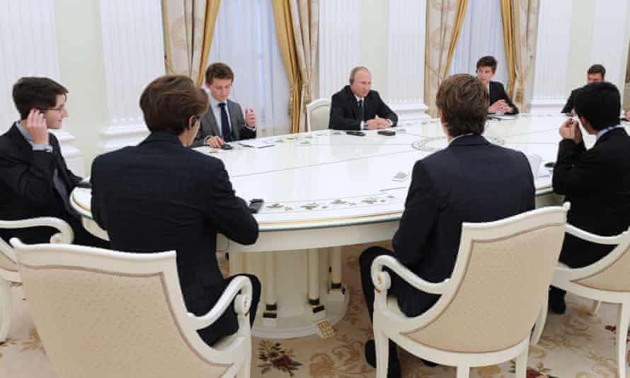 Putin and Eton schoolboys.