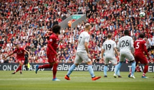 Alexander-Arnold shoots from the free-kick.