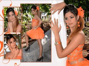 Amanda Beatriz Llanes Cruz, 15, poses for a portrait at Estudio Mayer