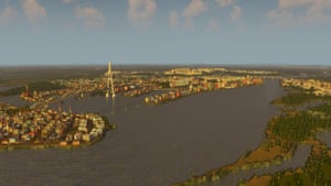 The waterways of Amsterdam have been recreated here. As the population grows, gamers are presented with new civic opportunities including school improvements, waste management and policing.