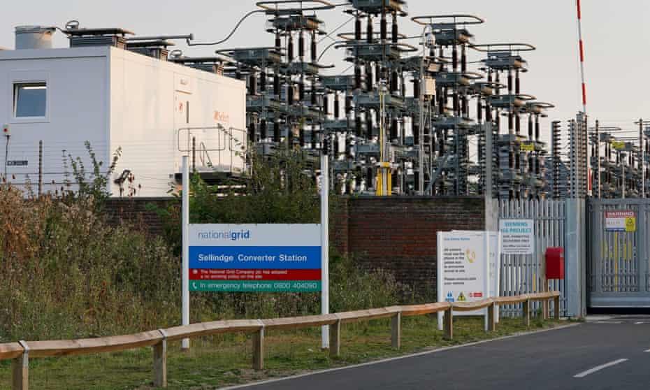 National Grid site in Sellindge, Kent.