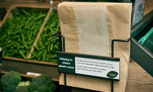 Little green bag: Morrisons revives paper in war on plastic
