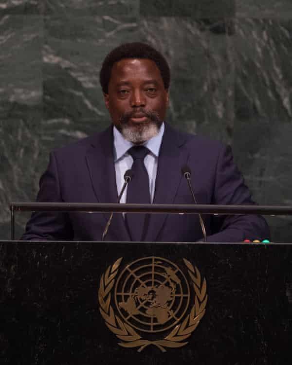 President Joseph Kabila addresses the UN general assembly in New York