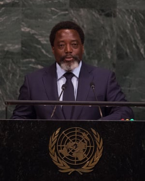 President Joseph Kabila addresses the UN general assembly in New York