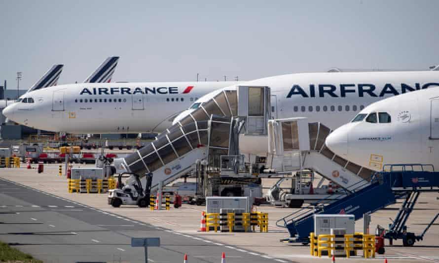 Air France planes at Charles de Gaulle airport, Paris