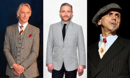 Loyal customers … Paul Weller, Martin Freeman and Kevin Rowland.