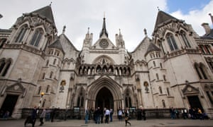 The royal courts of justice in London, which houses the court of appeal of England and Wales and the high court of justice of England and Wales