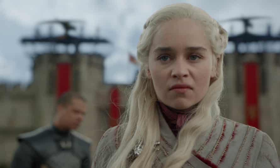 """Game of Thrones' Daenerys Targaryen: in need of caffeine? HBO confirmed the coffee cup was """"a mistake"""", but said it wasn't from Starbucks."""