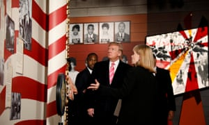 Donald Trump visits the Civil Rights Museum in Jackson, Mississippi.