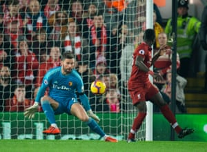 Mane marks the second with a heel.