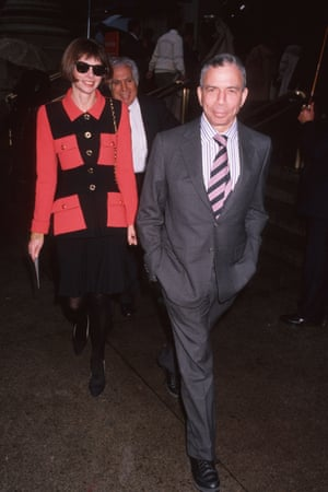 Alongside SI Newhouse at a memorial for Diana Vreeland in November, 1989.