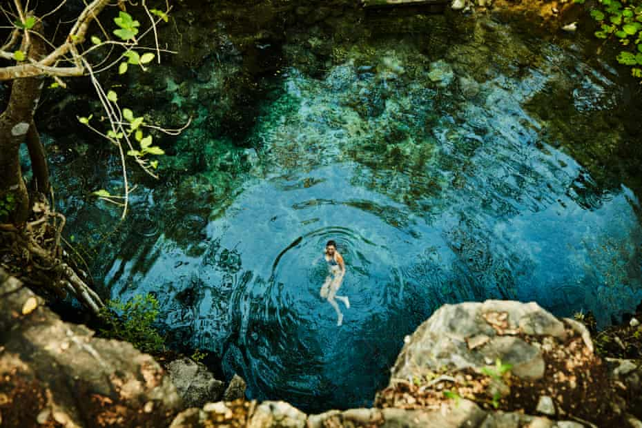 In Mexico bathers are asked not to wear sunscreen while swimming in natural pools.
