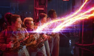 Melissa McCarthy, Kate McKinnon, Kristen Wiig and Leslie Jones blast a spook in Paul Feig's 'frankly uneven' remake of Ghostbusters.