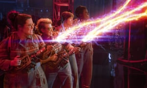Leslie Jones, Melissa McCarthy, Kate McKinnon and Kristen Wiig in Paul Feig's new version of Ghostbusters.
