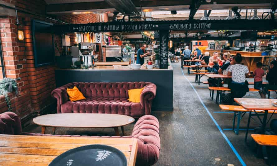 The Cutlery Works in Sheffield, a food hall placed in a former cutlery foundry and works