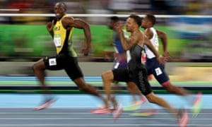 Usain Bolt competes in the Men's 100m semi-final on Day nine of the Rio 2016 Olympics.