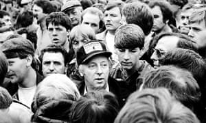 Arthur Scargill leads the miners at Orgreave.