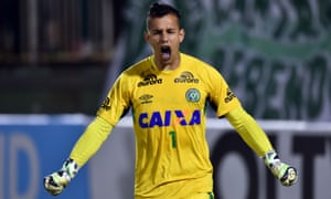 Chapecoense goalkeeper Danilo in 2015. He was killed in a plane crash in November this year.