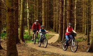 Cycling at Wallington, Northumberland