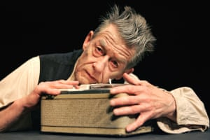 Onstage in Samuel Beckett's Krapp's Last Tape at the Barbican, 2006