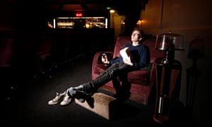 Tom Lamont puts his feet up at Everyman's Screen on the Green in Islington, London.